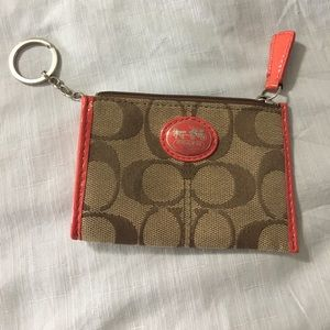 Coach Mini Skinny Keychain Wallet